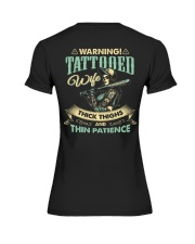 Tattooed Wife With Thick Thighs And Thin Patience Premium Fit Ladies Tee thumbnail