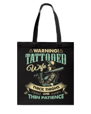 Tattooed Wife With Thick Thighs And Thin Patience Tote Bag thumbnail