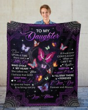 """Once Upon Time There Was A Little Girl To Daughter Fleece Blanket - 50"""" x 60"""" aos-coral-fleece-blanket-50x60-lifestyle-front-01"""