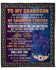 "My Little Boy Yesterday - Grandma To Grandson Fleece Blanket - 50"" x 60"" front"