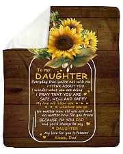 My Love For U Is Forever Sunflower Dad To Daughter Sherpa Fleece Blanket tile