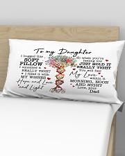 I Hugged This Soft Pillow - Dad To Daughter Rectangular Pillowcase aos-pillow-rectangular-front-lifestyle-02