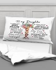 I Hugged This Soft Pillow - Dad To Daughter Rectangular Pillowcase aos-pillow-rectangular-front-lifestyle-03