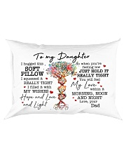 I Hugged This Soft Pillow - Dad To Daughter Rectangular Pillowcase front