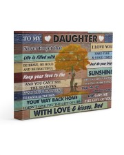 Daughter Be Brave Bold And Just Do Your Best 14x11 Gallery Wrapped Canvas Prints front
