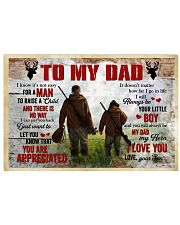 I Know It's Not Easy For A Man Hunting Son To Dad Horizontal Poster tile