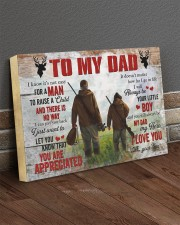 I Know It's Not Easy For A Man Hunting Son To Dad 24x16 Gallery Wrapped Canvas Prints aos-canvas-pgw-24x16-lifestyle-front-04