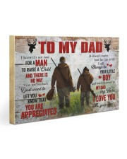 I Know It's Not Easy For A Man Hunting Son To Dad Gallery Wrapped Canvas Prints tile