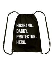 Husband Daddy Protector Hero Drawstring Bag thumbnail