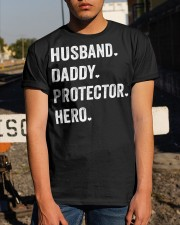Husband Daddy Protector Hero Classic T-Shirt apparel-classic-tshirt-lifestyle-29