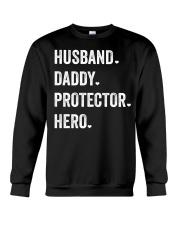 Husband Daddy Protector Hero Crewneck Sweatshirt thumbnail