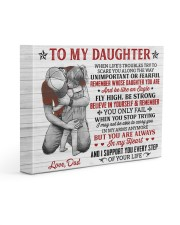 When Life's Troubles Try Scare You Dad To Daughter 14x11 Gallery Wrapped Canvas Prints front