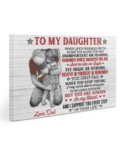 When Life's Troubles Try Scare You Dad To Daughter Gallery Wrapped Canvas Prints tile