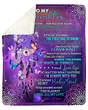 """No One Else Will Ever Know Wolf Mom To Daughter Sherpa Fleece Blanket - 50"""" x 60"""" thumbnail"""