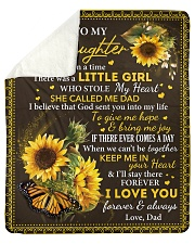 Once upon time There was liitle Girl Dad-Daughter Sherpa Fleece Blanket tile