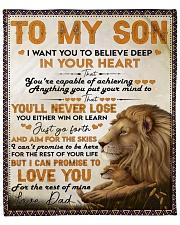 "I Want U To Believe Deep In Heart Lion Dad To Son Fleece Blanket - 50"" x 60"" front"