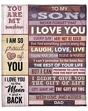 "Never Forget That I Love You - Dad To Son Fleece Blanket - 50"" x 60"" front"