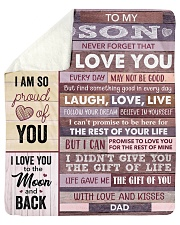 "Never Forget That I Love You - Dad To Son Sherpa Fleece Blanket - 50"" x 60"" thumbnail"