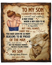 """I Close My Eyes For But A Moment Lion Mom To Son Fleece Blanket - 50"""" x 60"""" front"""