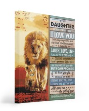 Lion- Never Forget That I Love U Dad-To-Daughter 16x20 Gallery Wrapped Canvas Prints thumbnail