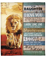 """Lion- Never Forget That I Love U Dad-To-Daughter Fleece Blanket - 50"""" x 60"""" front"""