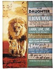 Lion- Never Forget That I Love U Dad-To-Daughter Fleece Blanket tile