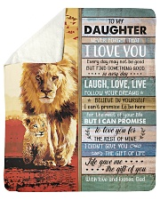"""Lion- Never Forget That I Love U Dad-To-Daughter Sherpa Fleece Blanket - 50"""" x 60"""" thumbnail"""