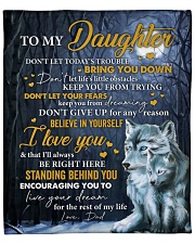 """Don't Let Today's Trouble Wolf Dad To Daughter Fleece Blanket - 50"""" x 60"""" front"""