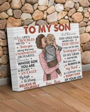 When Life's Troubles Try To Scare U Mom To Son 14x11 Gallery Wrapped Canvas Prints aos-canvas-pgw-14x11-lifestyle-front-18