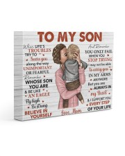 When Life's Troubles Try To Scare U Mom To Son 14x11 Gallery Wrapped Canvas Prints front