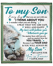 """Everyday I Think About You - Dad-To-Son Fleece Blanket - 50"""" x 60"""" front"""