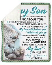 """Everyday I Think About You - Dad-To-Son Sherpa Fleece Blanket - 50"""" x 60"""" thumbnail"""