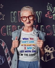 Sit With You In The Dark Ladies T-Shirt lifestyle-holiday-crewneck-front-3