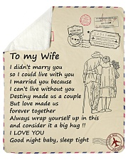 """Wife Love Made Is Forever Together I Love You Sherpa Fleece Blanket - 50"""" x 60"""" thumbnail"""