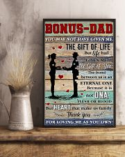 Bonus Dad Thanks For Loving Me As Your Own 11x17 Poster lifestyle-poster-3