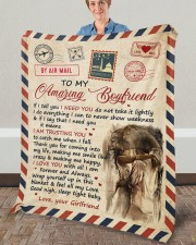 "If I Tell U I Need U Girlfriend To Boyfriend Fleece Blanket - 50"" x 60"" aos-coral-fleece-blanket-50x60-lifestyle-front-02a"