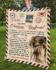 "If I Tell U I Need U Girlfriend To Boyfriend Fleece Blanket - 50"" x 60"" aos-coral-fleece-blanket-50x60-lifestyle-front-02b"