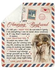 "If I Tell U I Need U Girlfriend To Boyfriend Sherpa Fleece Blanket - 50"" x 60"" thumbnail"