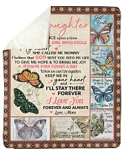 """Once Upon A Time Buuterfly Mom To Daughter Sherpa Fleece Blanket - 50"""" x 60"""" thumbnail"""