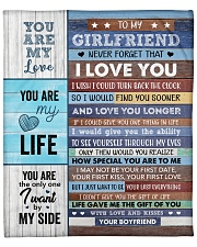 "Never Forget That I Love U Boyfriend To Girlfriend Fleece Blanket - 50"" x 60"" front"