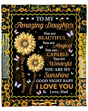 """You Are Beautiful Magical Capable Dad To Daughter Fleece Blanket - 50"""" x 60"""" front"""