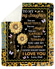 """You Are Beautiful Magical Capable Dad To Daughter Sherpa Fleece Blanket - 50"""" x 60"""" thumbnail"""