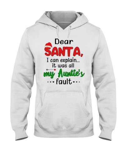 Dear Santa It Was All My Auntie's Fault