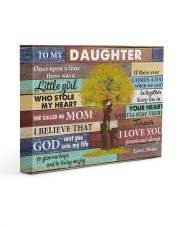 Daughter Keep Me In Your Heart I'll Stay There 14x11 Gallery Wrapped Canvas Prints front