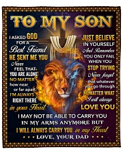 "I Asked God For A Best Friend Lion Dad To Son Fleece Blanket - 50"" x 60"" front"