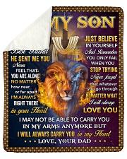 I Asked God For A Best Friend Lion Dad To Son Sherpa Fleece Blanket tile