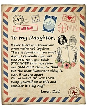 """if ever there is a tomorrow -Dad-Daughter Fleece Blanket - 50"""" x 60"""" front"""