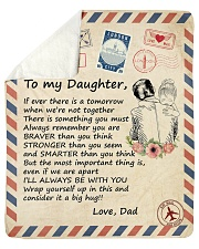 if ever there is a tomorrow -Dad-Daughter Sherpa Fleece Blanket tile