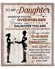 """You Are Braver Than U Think Dad To Daughter Fleece Blanket - 50"""" x 60"""" front"""