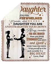 You Are Braver Than U Think Dad To Daughter Sherpa Fleece Blanket tile